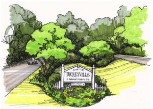 Dickeyville Garden Club sketch. From www.dickeyvillegardenclub.com