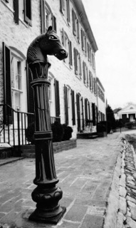 The ornate pole left. Well despite being roughed by tropical storm Agnes last summer. Feb 26, 1973. Baltimore Sun