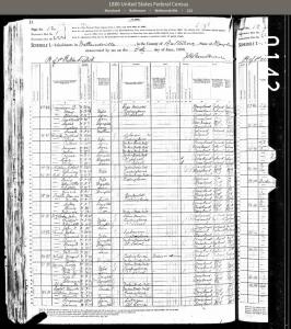 1880 Census Wetheredville P1. Via Ancestory.com