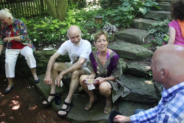 Duncan Hodge & Karen Langenberg at Village Brunch in Garden_ July 2016- Carlye Brooks