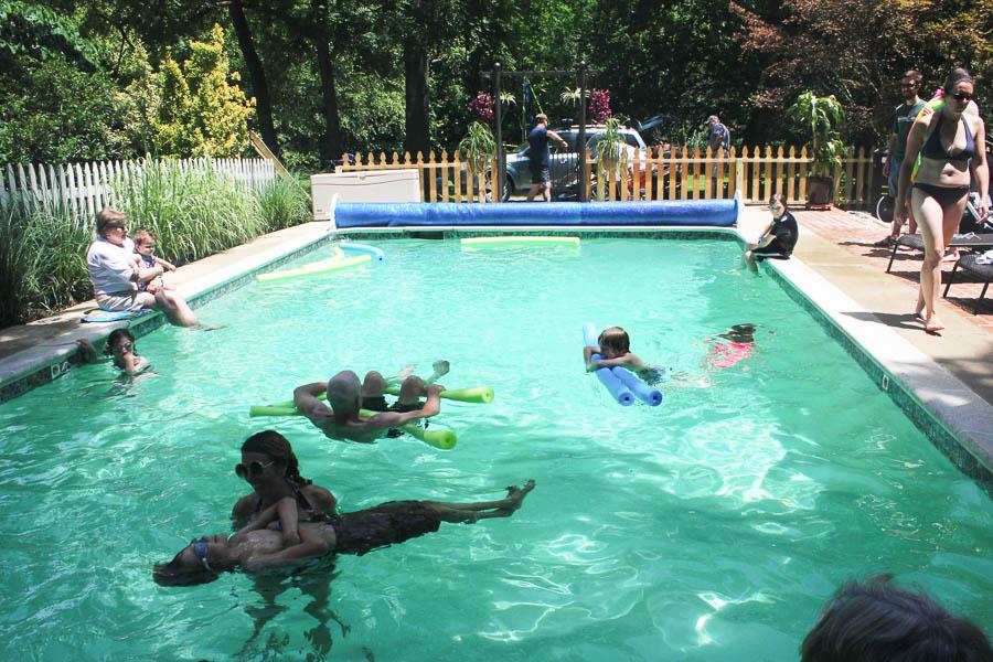 Fun in the Langenbergs Pool 2016- Carlye Brooks