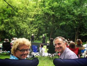 Greenwalds watch McCreadys in Shakespeare in the Park July 2016. Photo by Sheridan Jones McCrae