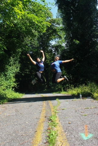 Jump! Jump! Trisha Taft & Carley Brooks during Rubiwaski 2016- Carlye Brooks