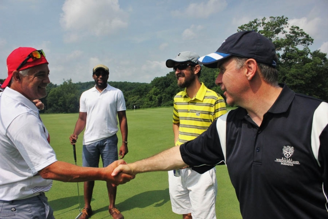 Let's Shake on It Carvalho McCrae Cyman Wharton_Golf Tournament 2016-Carlye Brooks