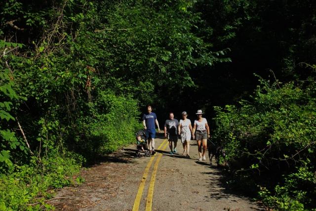 Walkers enjoy the Gwynn Falls Trails in Leakin Park during Rubiwaski_July 2016- Carlye