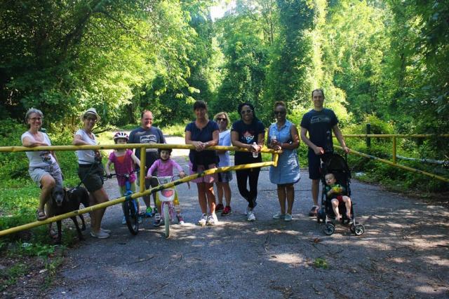 Walkers on Gwynn Falls Trail during Rubiwaski_July2016 Carlye Brooks