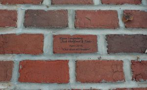 Brick patio at home of Opening Party Hosts & Event Committee Chairs, Karen Langenberg & Jack Hoagland. Photo by Carlye Brooks