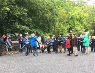 Attendees of the 2017 Baltimore Heritage Tour gather in Dickeyville