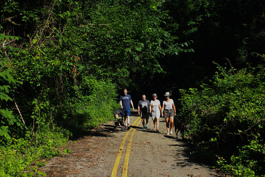 Walkers enjoy the Gwynn Falls Trails in Leakin Park during Rubiwaski_July 2016- Carlye