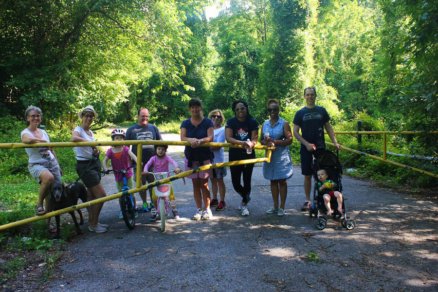 Walkers on Gwynn Falls Trail during Rubiwaski_July2016 Carlye Brooks