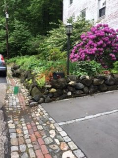 Cobblestones drain in Dickeyville viewed during the 2017 Baltimore Heritage Tour
