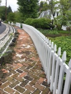 Historic brick walkways in Dickeyville, during the 2017 Baltimore Heritage Tour